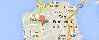 Sushi Kazu Map on SF